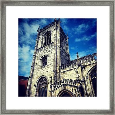 #yorkuk #york #yorkshire #uk #england Framed Print