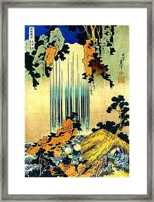 Yoro Waterfall In Mino 1833 Framed Print