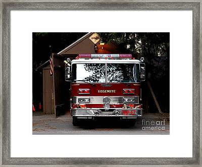 Yosemite California Fire Engine . 7d6142 Framed Print by Wingsdomain Art and Photography
