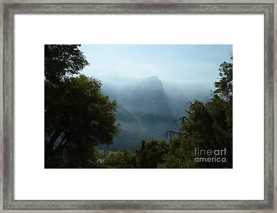 Yosemite Falls Hike Framed Print