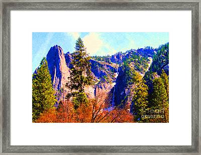 Yosemite In The Fall . 7d6287 Framed Print by Wingsdomain Art and Photography