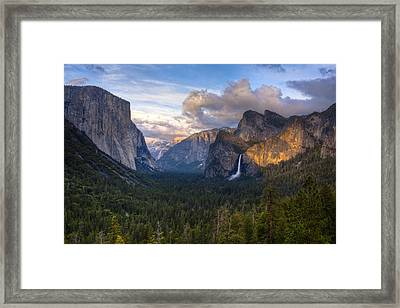 Yosemite Sunset Framed Print by Jim Neumann