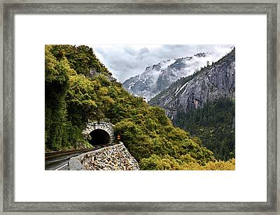 Yosemite Tunnel Framed Print by Jill Buschlen