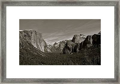 Framed Print featuring the photograph Yosemite Valley by Eric Tressler