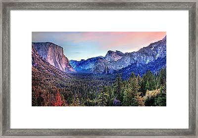 Yosemite Valley From Tunnel Framed Print