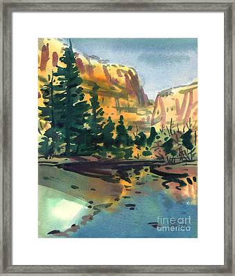 Yosemite Valley In January Framed Print by Donald Maier