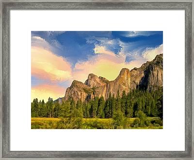 Yosemite Valley Morning Framed Print by Dominic Piperata