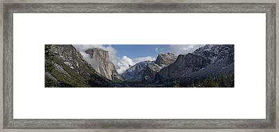 Yosemite Valley Panoramic From Tunnel View Framed Print by Joseph Wilson