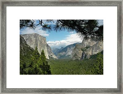 Framed Print featuring the photograph Yosemite's Tunnel View by Geraldine Alexander