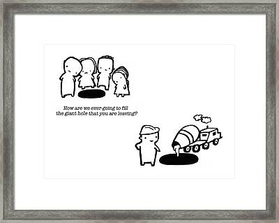 You Are Leaving Framed Print by Leanne Wilkes