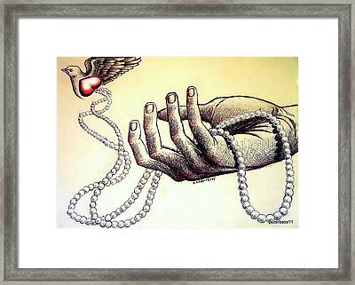 You Are Where Your Treasure Is Framed Print by Paulo Zerbato
