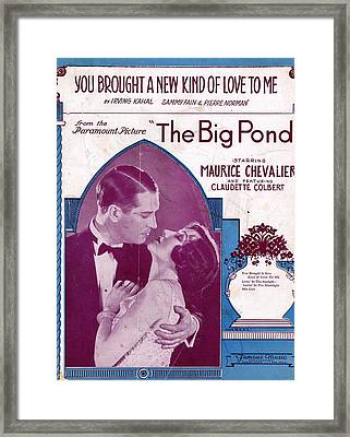 You Brought A New Kind Of Love To Me Framed Print by Mel Thompson
