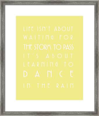 You Can Dance In The Rain Framed Print by Georgia Fowler