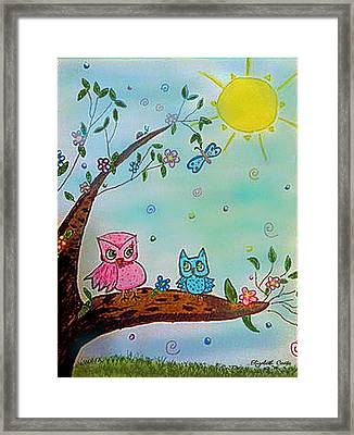 Framed Print featuring the painting You Can Do It  by Elizabeth Coats