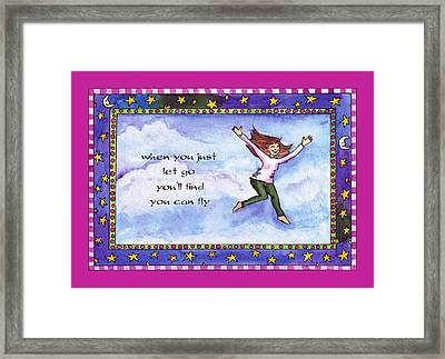 You Can Fly Framed Print by Pamela  Corwin