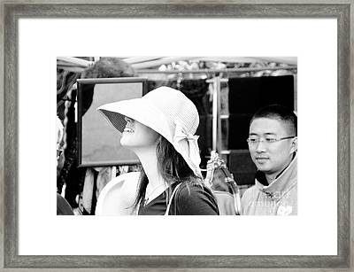 You Can Leave Your Hat On. Framed Print