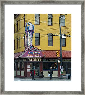 You Gonna Cross Or Just Sit On The Curb Framed Print by Paul W Sharpe Aka Wizard of Wonders