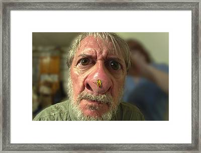 You Have A Bug On Your Nose Framed Print