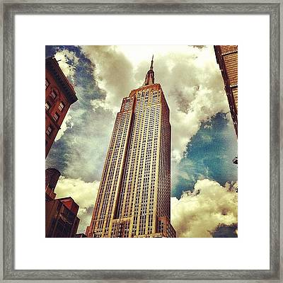You Know What This Thing Is. #nyc Framed Print