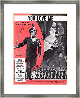 You Love Me Framed Print by Mel Thompson