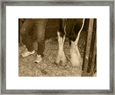 You Put Your Right Foot Out Framed Print