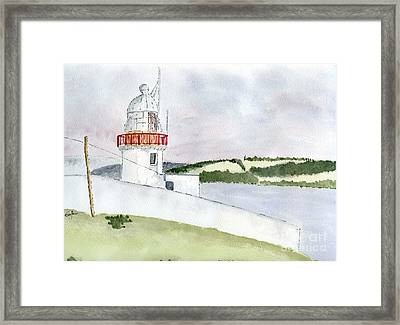 Youghal Lighthouse Framed Print by Eva Ason