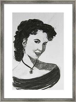 Young Actress Framed Print by Serene Maisey