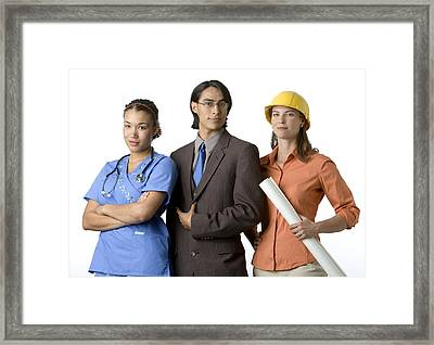 Young Adults With Careers In Medicine Framed Print by Dawn Kish