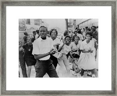 Young African American Demonstrators Framed Print by Everett