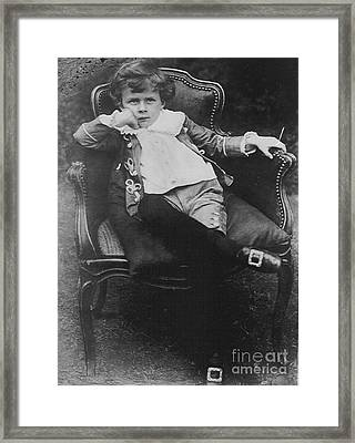 Young Aldous Huxley, English Author Framed Print by Photo Researchers