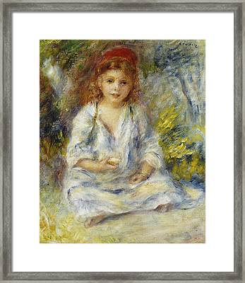 Young Algerian Girl Framed Print by Pierre Auguste Renoir