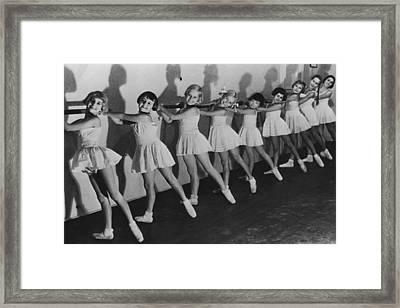 Young Ballerinas Framed Print by Keystone