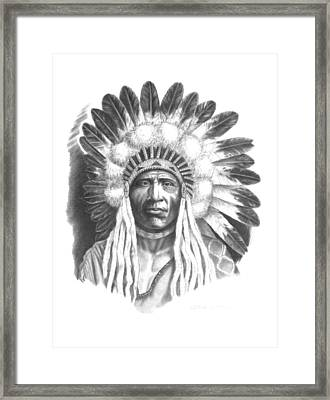 Young Blackfoot Framed Print by Lee Updike