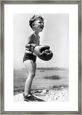 Young Boxer Framed Print by Doris Day