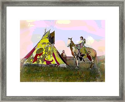 Framed Print featuring the mixed media Young Chief by Charles Shoup