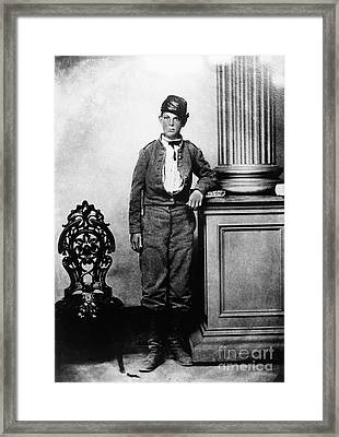 Young Confederate Soldier Framed Print by Photo Researchers