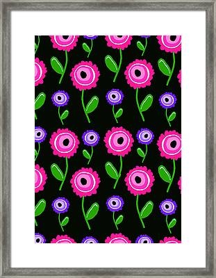 Young Florals  Framed Print by Louisa Knight
