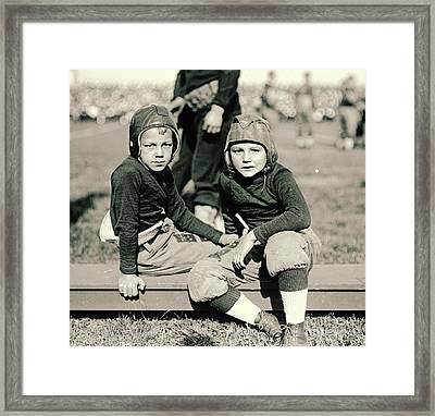 Young Football Fans 1920 Framed Print