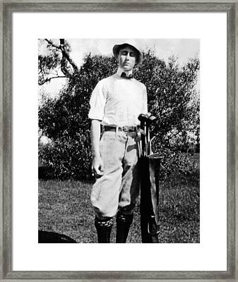 Young Franklin Roosevelt At On A Golf Framed Print by Everett