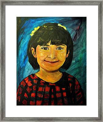 Young Girl 4 Framed Print by Amanda Dinan