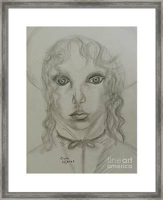 Young Girl Framed Print by Caroline Street