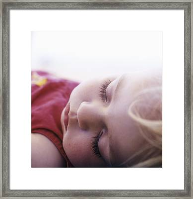 Young Girl Sleeping Framed Print by Cristina Pedrazzini