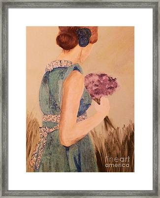 Young Girl Young Woman Framed Print by AE Hansen