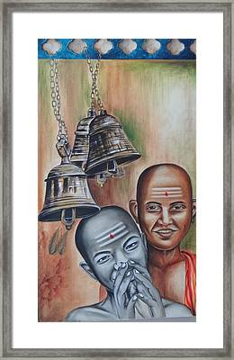 Young Indian Pandits Framed Print by Tanuja Chopra