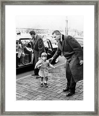 Young John And Caroline Kennedy Framed Print by Everett