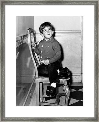 Young John F. Kennedy Jr. Nearing Framed Print by Everett