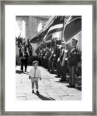Young John Kennedy Jr., The Presidents Framed Print by Everett