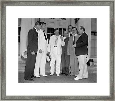 Young Lyndon Johnson Was The Youngest Framed Print by Everett
