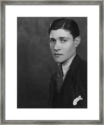 Young Man Framed Print by Sasha