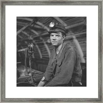 Young Miner Framed Print by John Craven